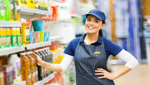 продавец в супермаркете